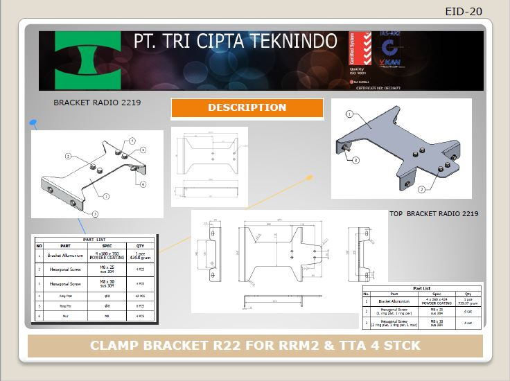 CLAMP BRACKET R 22