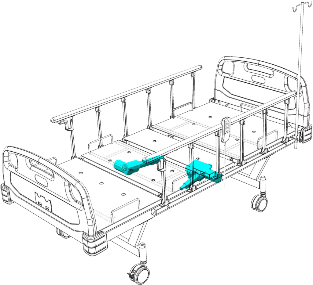 Hospital Bed Electric 2 Actuator