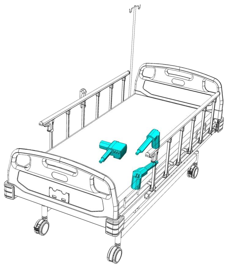 Hospital Bed Electric 3 Actuator